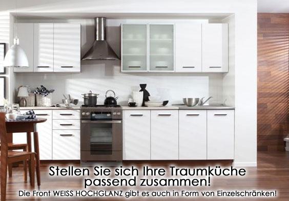 Küchenzeile Weiß einbauküche küche küchenzeile weiß hochglanz mehr ebay